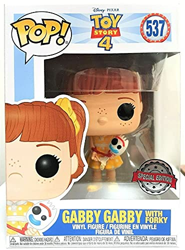 Toy Story 4 Pop! Vinyl Gabby Gabby Holding Forky Excl.