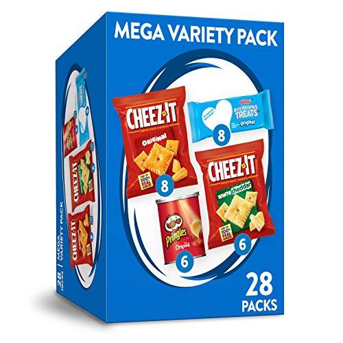 Kellogg's Mega Variety Pack, Lunch Snacks, Office and Kids Snacks, Variety Pack, 28.1oz Box (28 Packs)