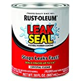 Rust-Oleum 275116 LeakSeal Flexible Rubber Coating, 30 oz, Crystal Clear