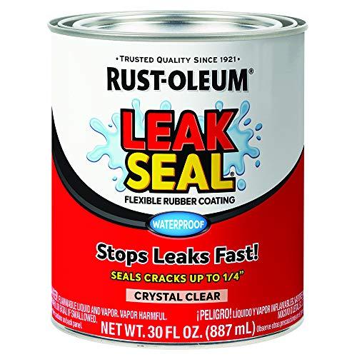 Rust-Oleum 275116 LeakSeal Flexible Rubber Coating, 30 oz, Crystal Clear