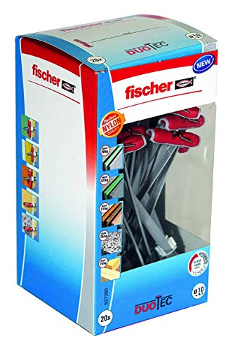 fischer DUOTEC 10 LD - Nylon-Kippdübel für hohe Zug- und Querlasten durch 2 Komponenten - 20 Stück - Art.-Nr. 537260