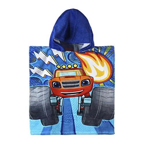Poncho toalla Blaze and the Monster Machines Thunder algodon