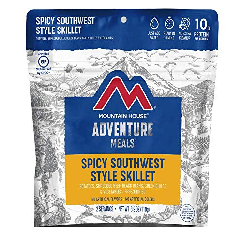 Mountain House Spicy Southwest Style Skillet | Freeze Dried Backpacking & Camping Food | 2 Servings | Gluten-Free