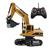 Remote Control Excavator, RC Sand Digger Toy Kids Construction Trucks Battery Operated Like