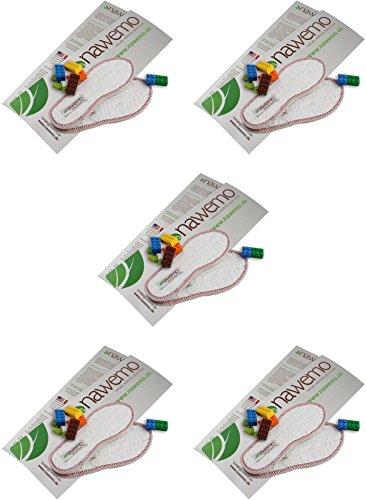 Nawemo Zimtsohlen Frottee (5er Pack) für Kinder - für angenehm trockene und warme Füße - gegen Fußgeruch und Fußpilz