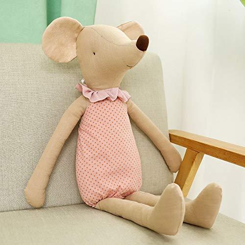 35/45 / 60cm Kawaii Mouse Peluches Ratones Lindos Muñecos de Peluche Animales Juguete de Peluche Muñeco de Ratón Suave Bebé Tela de Juguete para Dormir para Niños 60cm Rosa