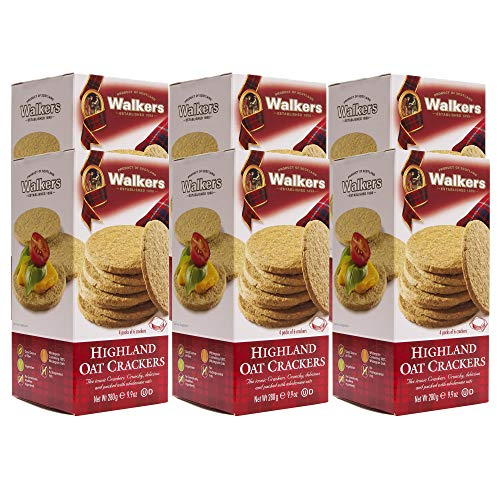 Walkers Shortbread Highland Oat Crackers, 9.9 Ounce Box (Pack of 6)
