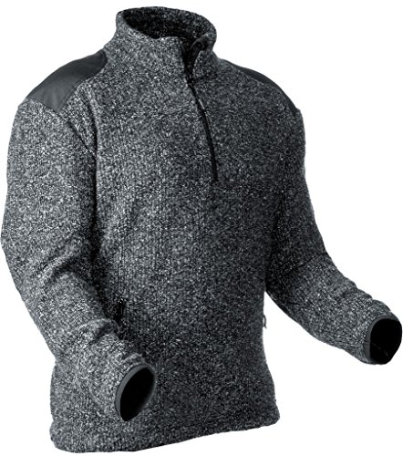 Pfanner Warmer Pullover aus gestricktem Fleece 101110, Farbe:grau, Größe:M