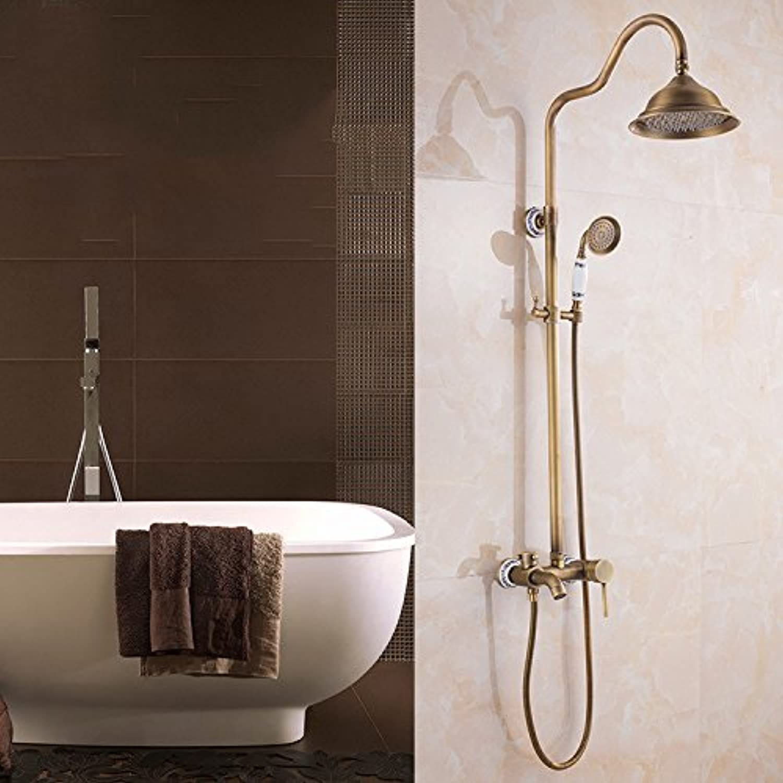 Shower taps fashionable antique ceramic wall type shower set
