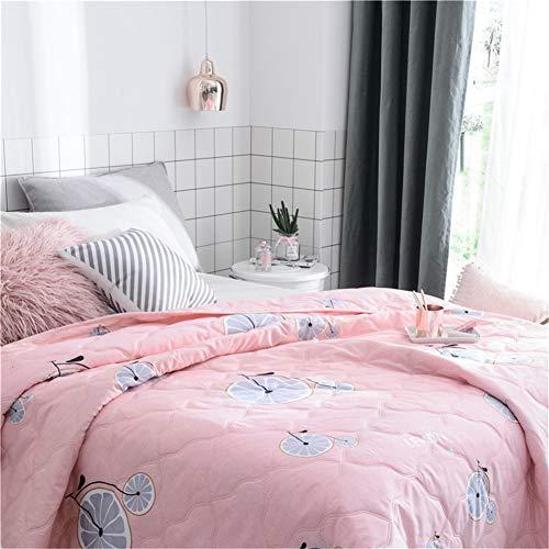 Fansu Tagesdecke Bettüberwurf Steppdecke Mikrofaser Doppelbett Einselbetten Gesteppt Bettwäsche Sofaüberwurf Wohndecke Bettdecke Stepp Gesteppter Quilt (Rosa Fahrrad,150x200cm)