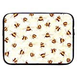 Waterproof Laptop Sleeve 13 Inch, Bee Pattern Business Briefcase Protective Bag, Computer Case Cover for Ultrabook, MacBook Pro, MacBook Air, Asus, Samsung, Sony, Notebook
