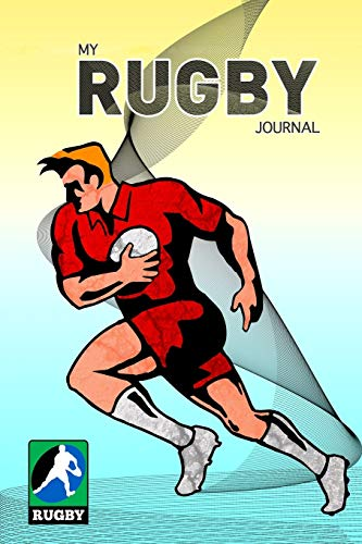MY RUGBY JOURNAL DOT GRID STYLE NOTEBOOK: 6x9 inch daily bullet notes on dot grid design creamy colored pages with beautiful rugby player ball cover nice present idea for sportspersons