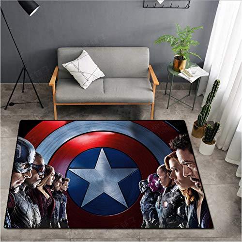 Home Teppiche Hulk Captain America The Avengers Anime Die Marvel Teppichboden Schlafzimmer Fußmatte rutschfeste Cartoon Teppich Geschenk Rache Yoga Matte 80X150 cm