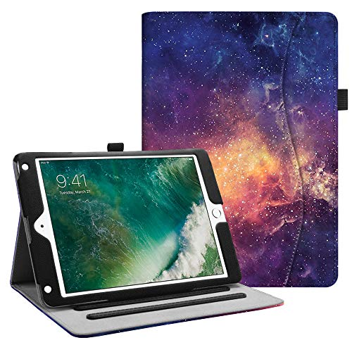Fintie Case for iPad 9.7 2018 2017 / iPad Air 2 / iPad Air - [Corner Protection] Multi-Angle Viewing Folio Cover w/Pocket, Auto Wake/Sleep for iPad 6th / 5th Gen, iPad Air 1/2, Galaxy