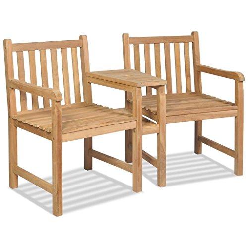 Roderick Irving Roderick Irving Gartenstühle 2 STK. Holzstühle Garten Teak Gartensessel mit Sonnenschirmloch