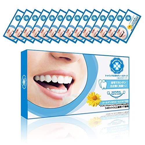 Twinkle 歯 濃密 シート テープ ホワイトニング シート ハミガキ カモミールエキス配合 口臭ケア 清涼 パック 14日分