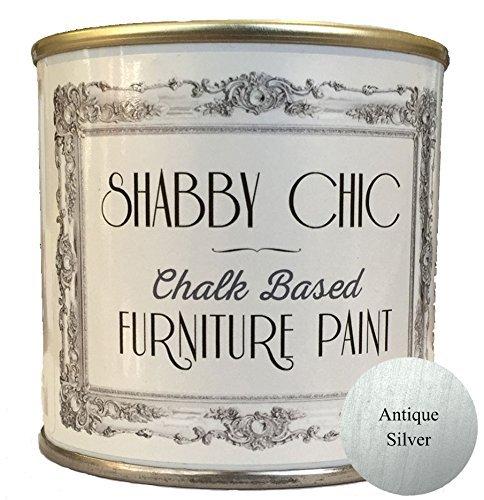 Shabby Chic Pintura de tiza para muebles efecto plata envejecida/Plata envejecida 250 ml