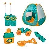 12 Piece Kids Tent Camping Set – Includes Big Tent, Telescope, 2 Walkie