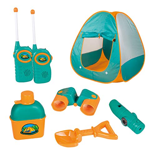 Review ToyVelt Kids Camping Tent Set Toys – Includes Pop Up Play Tent, Telescope, 2 Walkie Talkies, and Full Camping Gear Set Indoor and Outdoor Toy – Best Present for 3 4 5 6 Year Old Boys and Girls and Up