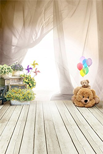 Fantasy Ballon Oso fotografía telones de Fondo para bebé Photo Estudio apoyos niños de Fondo Vinilo 3x5ft 100cmx150cm 4015