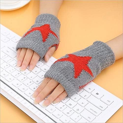1Pair Spring Women Warmer Women Gloves Winter Fingerless Knit Mittens Button Gloves 2017 New - (Color: 2, Gloves Size: One Size)