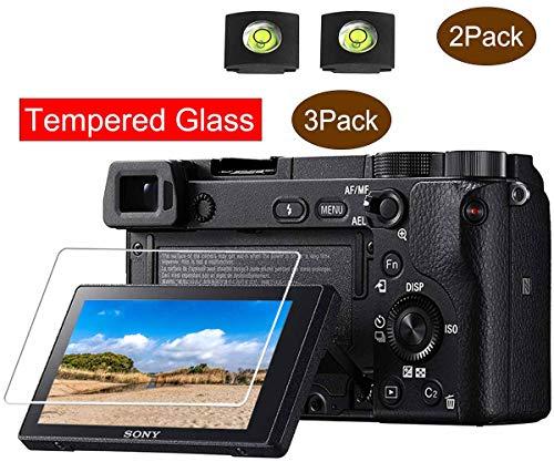 A6400 Displayschutzfolie für Sony Alpha a6400 A6300 A6000 A5000 Kamera & Blitzschuh-Abdeckung,ULBTER 9H Härte LCD gehärtetes Glas Kratzfest Anti-Fingerabdruck Anti-Wasser-Anti-Staub,3 Stück