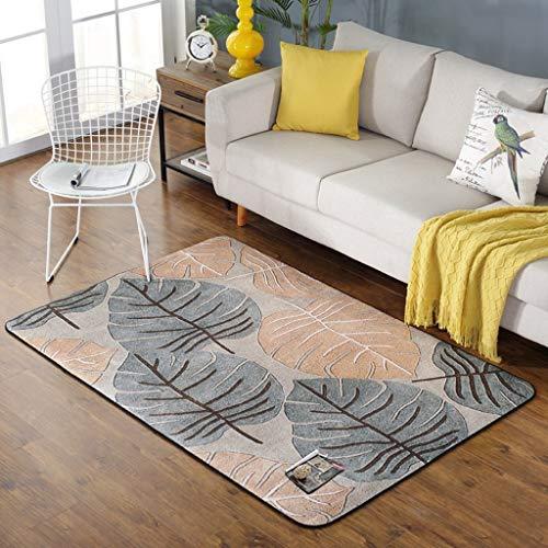 WEI Rug Nordic Rug, Teppich Wohnzimmer Rustikale Teppich, Moderne Schlafzimmer Teppichboden, Sofa Rechteckige Bettwäsche,100 * 150 cm,AAA