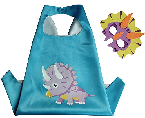 Triceratops Dinosaure Cape et le Masque de L'enfant