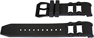 Vicdason for Invicta Russian Diver Watch Bands Replacement Strap with Bukcle - Black Rubber Silicone Invicta Watch Strap