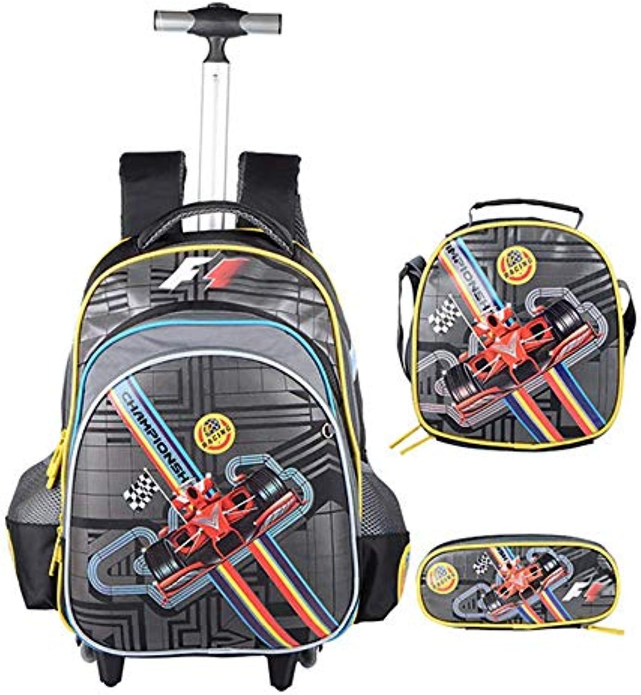 QCC& 3PCS Junge Mdchen Schule Schultaschen, Die Rucksack Rollen Mit Lunchpaket Mppchen,C