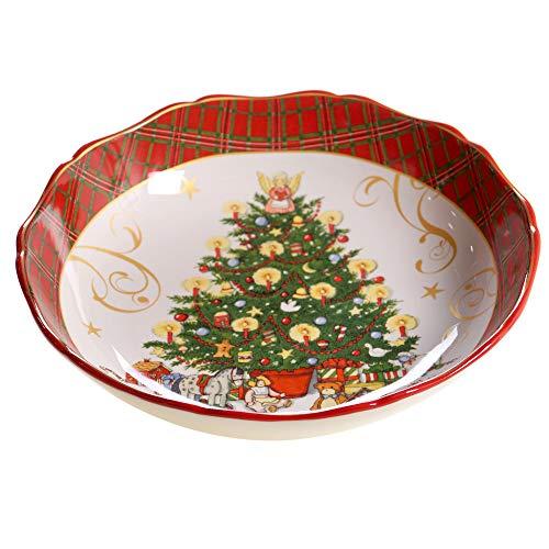 Certified International Vintage Santa Dinnerware,Dishware, Multicolored