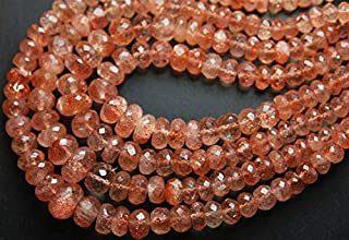 Jewel Beads Natural Beautiful jewellery 14'' Inches, Very Finest Natural Oregon Sunstone Faceted LARGE RONDELLES, Size 11-5mmCode:- JBB-27608