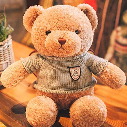 Plüschtier Plüschpuppe Cartoon Tier Teddybär T-Shirt Seidenschal Baby Geburtstagsgeschenk-Hell_Brun_Grau_T_Über_48Cm