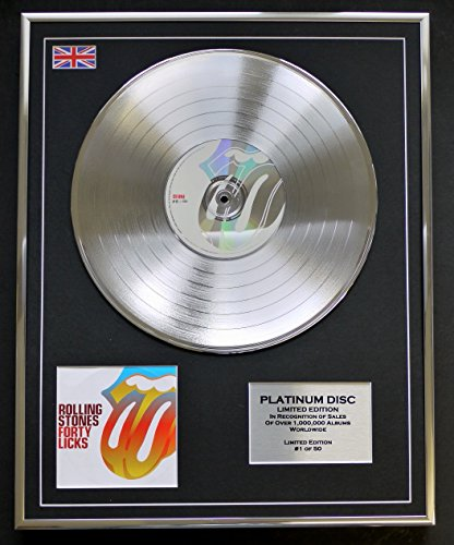 Everythingcollectible The Rolling Stones/Limitierte Edition Platin Schallplatte/Forty Licks