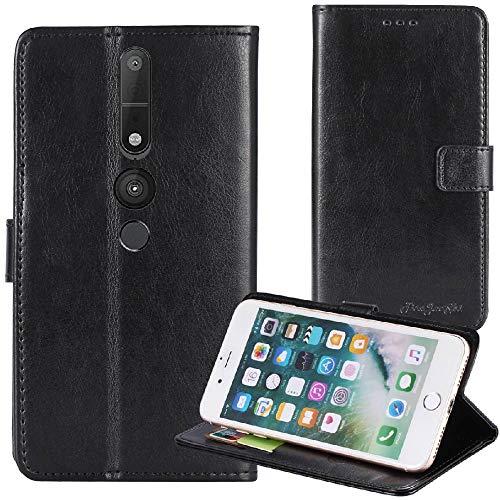 TienJueShi Schwarz Premium Retro Business Flip Book Stand Brief Leder Tasche Für Lenovo Phab 2 Pro 6.4 inch Schutz Hülle Handy Hülle Abdeckung Wallet Cover Etüi Skin