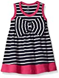 Hudson Baby Girl's Cotton Dresses, Navy Pink, 12-18 Months