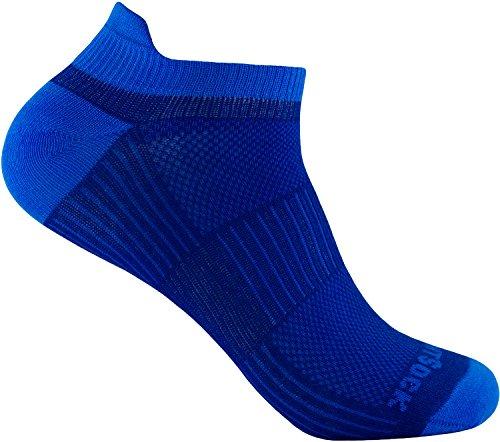 Wrightsock Profi Sportsocke Sneakers Low Tab Gr. L - anti-blasen - Farbe royale blau
