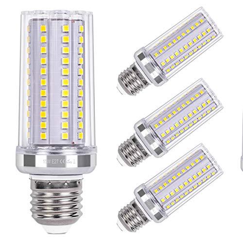 SanGlory E27 LED Maiskolben 15W LED Glühbirnen E27 Kaltweiß 6000K 1720LM entspricht 120W Glühlampe Nicht Dimmbar Energiesparlampe E27 LED Mais Birne Leuchtmittel E27 AC220-240V, 4er Pack