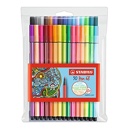 STABILO Pen 68 Wallet, 30-Color