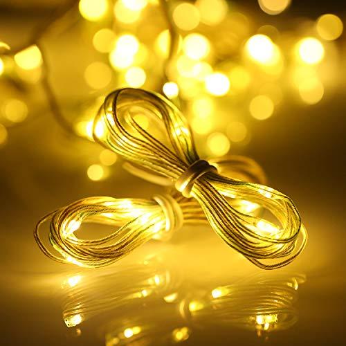 Lixada Lichterkette für Sonnenschirm,Sonnenschirm Lichter mit Fernbedienung und Timer, 8 Modi,104 LED Sonnenschirm Lichterkette Beleuchtung Deko für Campingzelte oder Outdoor-Dekoration
