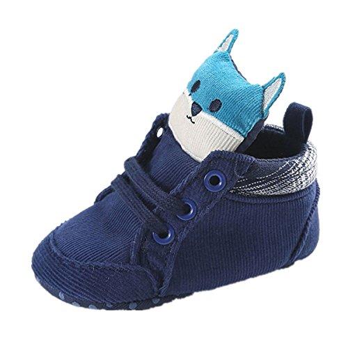 puseky Baby Jongens Meisjes Leuke Vos Zachte Zool Prewalker Schoenen Hoge Top Anti-Slip Sneaker