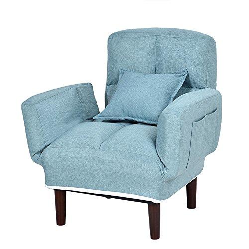 ZHANGRONG- Lazy Couch Leisure Fauteuil pour salle à manger -Tabouret de canapé (Couleur : Bleu)
