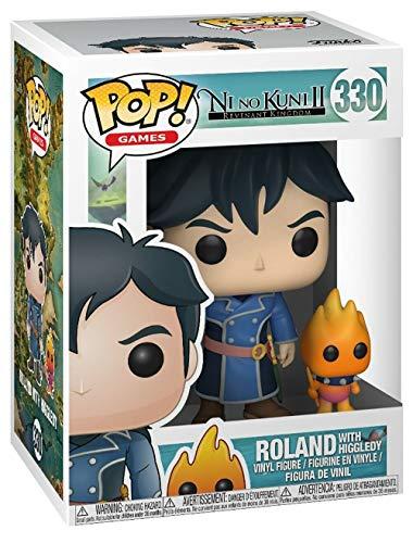 Funko - Figurines POP! Vinyle: Games: Ni No Kuni: Roland w/ Higgledy, 27016