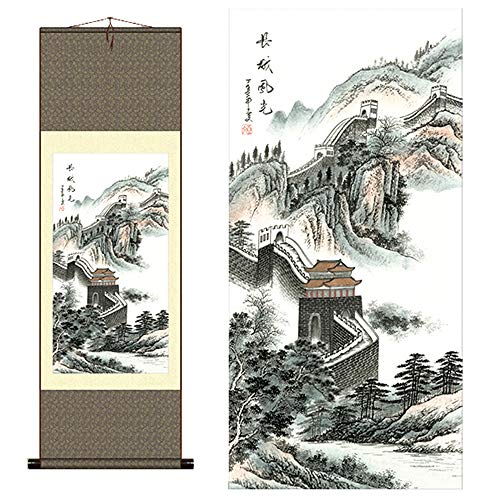 Sunmir (TM Silk Scroll Painting Chinese Ancient Great Wall Scenery