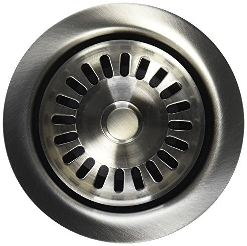 Mountain Plumbing MT200EV/BRS Kitchen Sink Strainer and Stopper, Brushed Stainless
