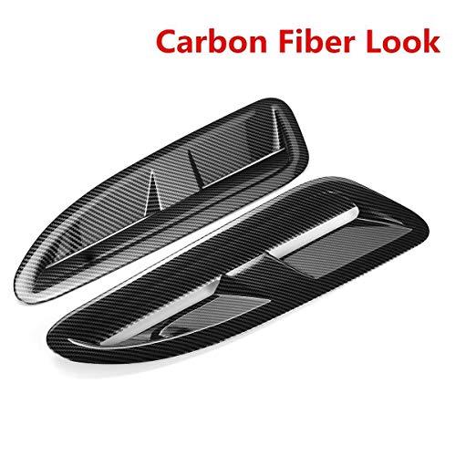SYMJP 車のフロントボンネットベントフードについてJ-G-U-R XKR / XK8についてB-M-WのB-E-N-Z V-WゴルフMK6 MK7フォードについてアウディマツダについて (Color : Carbon Fiber, Size : フリー)