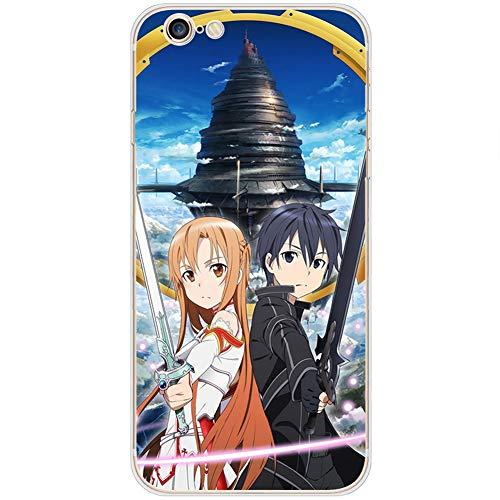 FDSVCSXV Funda de Arte de Anime para iPhone X/XS/XS MAX, TPU Funda Protectora de Estuches de teléfono (iPhone Toda Serie),A,iPhone 11 Pro