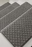 Oak Valley Designs Carpet Stair Treads - Style: Bayside Charm, Grey, 31' Wide (Set of 14)