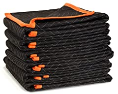 Includes six 72-inch by 40-inch movers blankets Internal padding prevents damage to both your surfaces and your furniture Polyester double stitched material provides extra strength and flexibility during transport Perfect for moving furniture, applia...