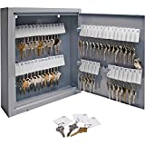 Sparco Secure Key Cabinet, 10 x 3 x 12 Inches, 60 Keys, Gray